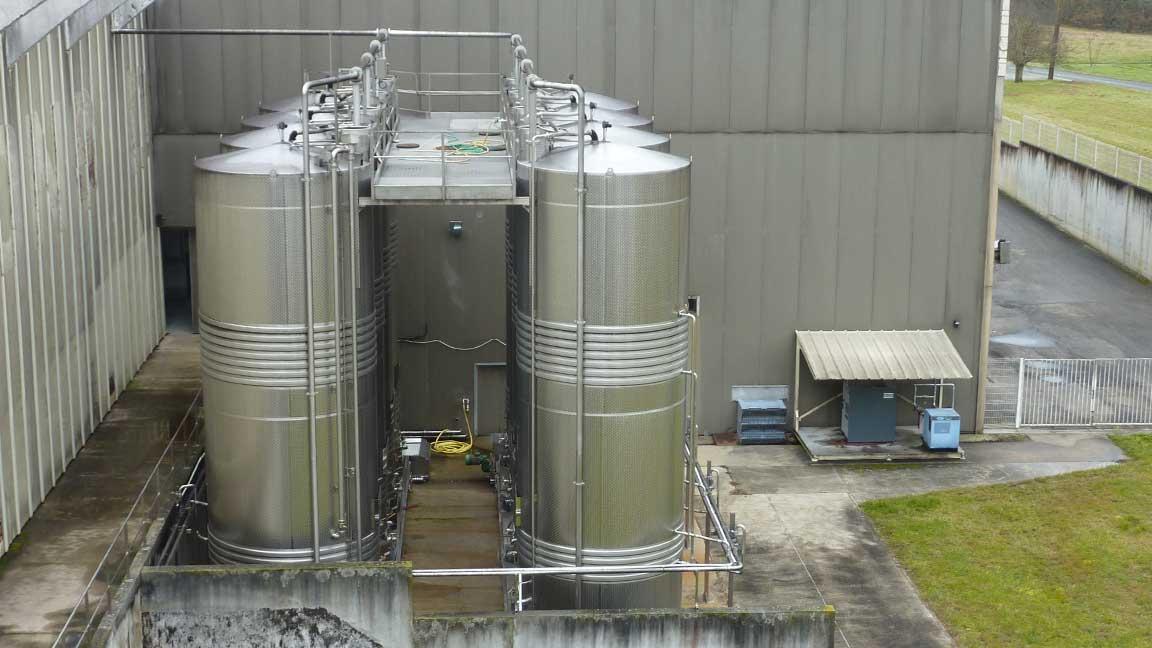 Installation cuves silos